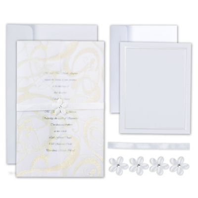 Precious Flower Printable Wedding Invitations Kit 25ct