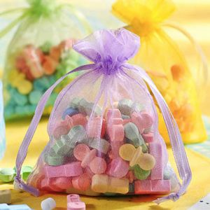 Multicolor Pastel Organza Favor Bags 12ct