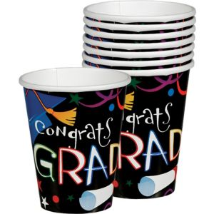 Grad Celebration Graduation Cups 36ct