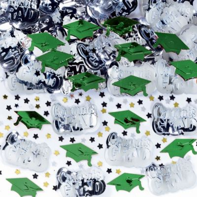 Metallic Green Graduation Confetti
