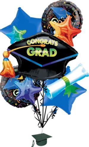 Graduation Balloon Bouquet 5pc - Grad Celebration