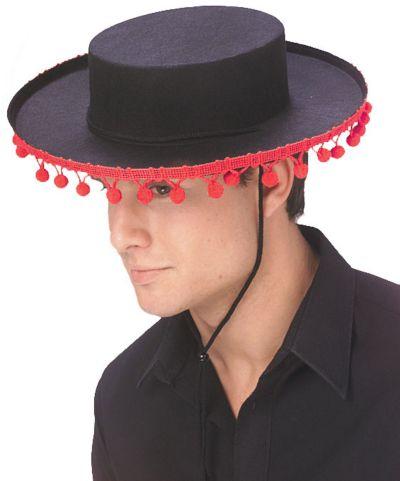 Spanish Hat with Pom Poms