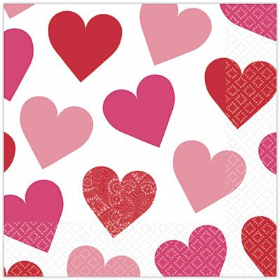 Key to Your Heart Valentine's Day Lunch Napkins 16ct