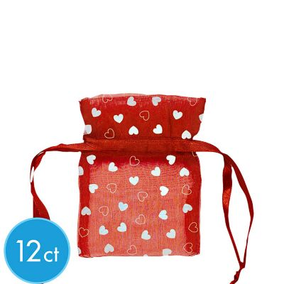 Red Organza Bags 12ct