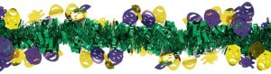 Mardi Gras Mask Tinsel Garland