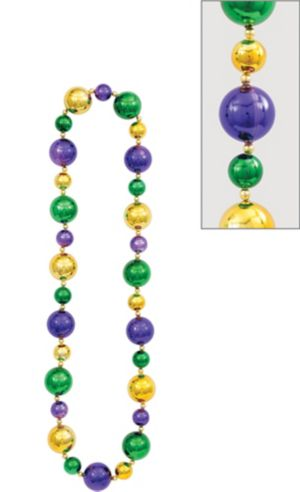 Big Mardi Gras Bead Necklace 46in