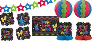 Colorful New Year's Decorating Kit 10pc