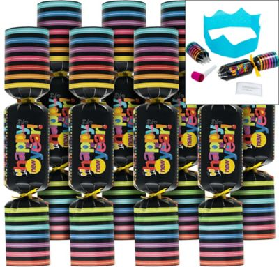 Colorful New Year's Crackers 8ct