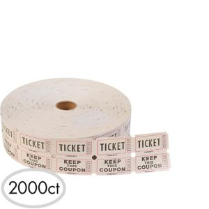 Double Roll Raffle Tickets 2000ct