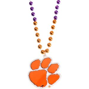 Clemson Tigers Pendant Bead Necklace