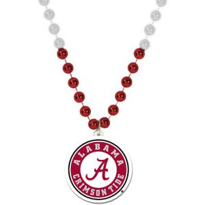 Alabama Crimson Tide Pendant Bead Necklace