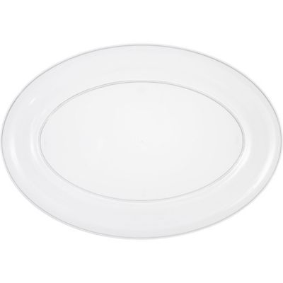CLEAR Plastic Oval Platter