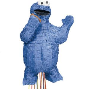 Pull String Cookie Monster Pinata