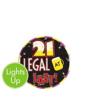 21st Birthday Light Up Button