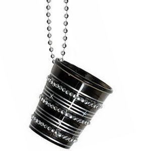 Bling Shot Glass Bead Necklace