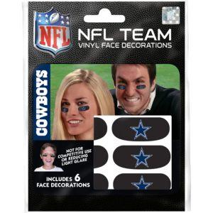 Dallas Cowboys Eye Black Stickers 6ct