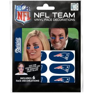 New England Patriots Eye Black Stickers 6ct