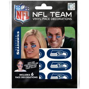 Seattle Seahawks Eye Black Stickers 6ct