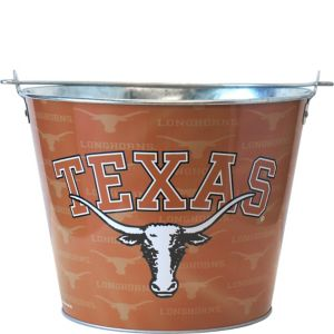 Texas Longhorns Metal Pail
