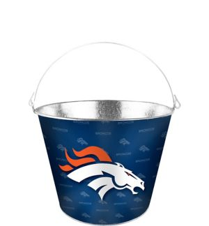 Denver Broncos Galvanized Bucket