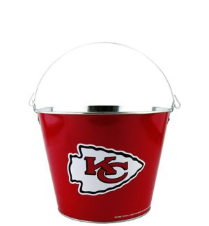 Kansas City Chiefs Galvanized Bucket