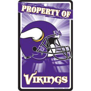 Property of Minnesota Vikings Sign