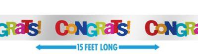 Cabana Polka Dot Congratulations Banner 15ft