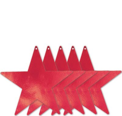 Extra-Large Red Star Cutouts 5ct