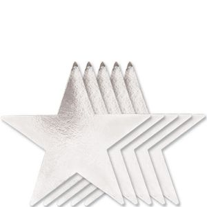 Large Silver Star Cutouts 5ct