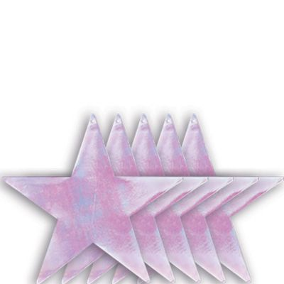 Medium Iridescent Star Cutouts 5ct