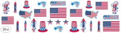 Patriotic Cutouts 30ct