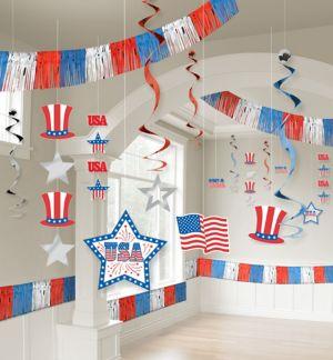 Patriotic Room Decorating Kit 21pc