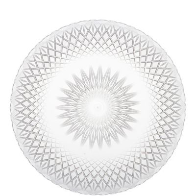 CLEAR Plastic Crystal Cut Platter