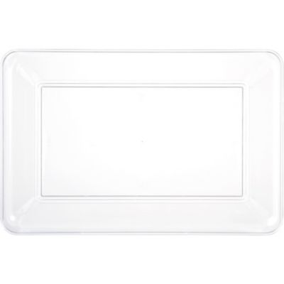 CLEAR Plastic Rectangular Platter