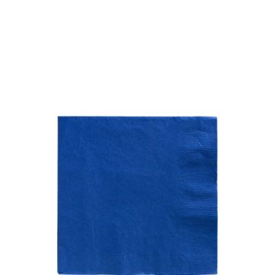 Royal Blue Beverage Napkins 125ct