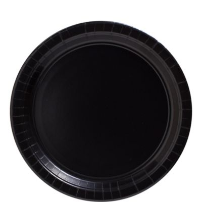 Black Paper Lunch Plates 50ct