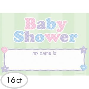 Baby Shower Name Tags 16ct