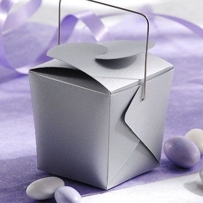 Silver Mini Wedding Favor Pails 12ct