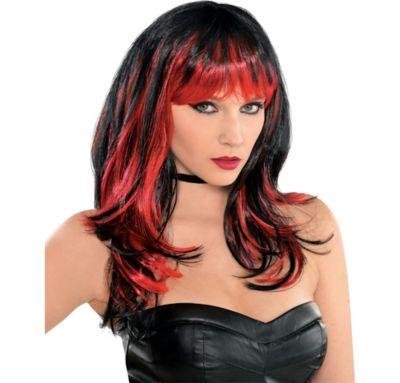 Enchantress Red and Black Wig