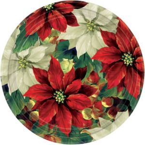 Regal Poinsettia Dinner Plates 8ct