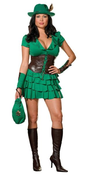 Adult Robyn da Hood Costume Plus Size