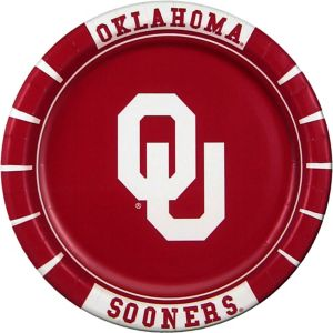 Oklahoma Sooners Lunch Plates 8ct