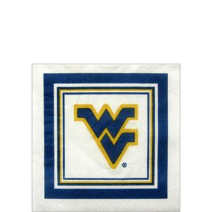 West Virginia Mountaineers Beverage Napkins 16ct