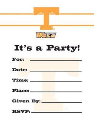 Tennessee Volunteers Invitations 8ct