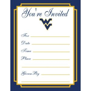 West Virginia Mountaineers Invitations 8ct