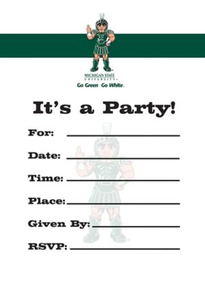 Michigan State Spartans Invitations 8ct