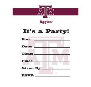 Texas A&M Aggies Invitations 8ct