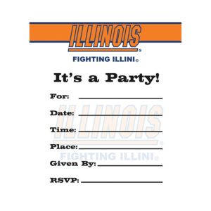 Illinois Fighting Illini Invitations 8ct