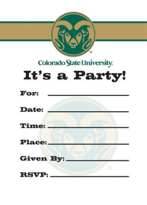 Colorado State Rams Invitations 8ct