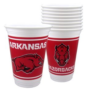 Arkansas Razorbacks Plastic Cups 8ct